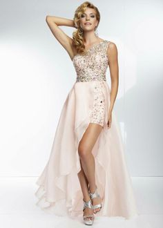 one shoulder prom dress