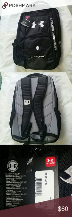 SALE $50!  Under Armour Backpack Hustle Storm Under Armour Bags Backpacks