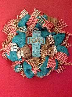 Teal and Cream Burlap Wreath with Cross - Faith, Jesus, Spring, Easter - 20 inch https://www.etsy.com/shop/SimplyBlessedGift