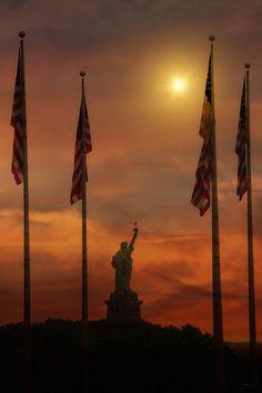 Libert Island Sunset taken from Liberty State Park, New Jersey, USA www.facebook.com/loveswish