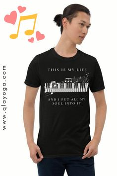 """""""Music gives a soul to the universe, wings to the mind, flight to the imagination and life to everything.""""  #pianoshirt #musicnoteshirt #PianoPrint #PianoTeacher, #MusicOutfit #MusicNoteOutfit #Musician #PianoTshirt, #PianoPlayerGift #menshirt #womenshirt #unisexshirt #womencasualstyle #mencasualstyle #music #pianokeyboard New T, Gadget, Imagination, Piano, Wings, October, Universe, Unisex, Sleeves"""