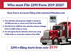 2290 form 2019 cost  16 Best form 16 16 images