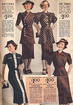 1936 brown suits and dresses fall winter
