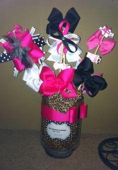 Custom Hair Bow Bouquets  hair bow holders. $25.00, via Etsy.