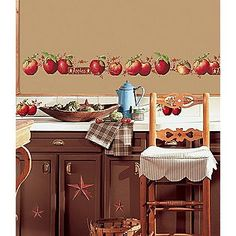 Use Apple Wall Decals to Decorate An Apple Kitchen | Kitchen ... on ideas for kitchen lighting, ideas for kitchen window treatments, ideas for kitchen interior design,