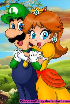 I have drawn so many Luigi and Daisy pics that I never know how to name the new ones... So here you have another one, hope you like it
