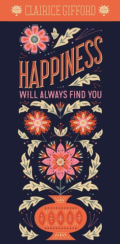 520534c5f84c Happiness Will Always Find You Graphic Design Fonts, Lettering Design, Hand  Lettering