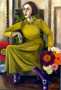 Large Contemporary Realism Painting By Catherine Nolin