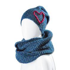 Modell 184/4, Mütze und Loop aus Inverno von Junghans-Wolle