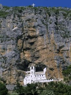 size: Photographic Print: Poster of Ostrog Monastery, Tramontana by Stuart Black : Artists Around The World In 80 Days, Around The Worlds, Train Vacations, Serbia And Montenegro, Church Architecture, Southern Europe, Old Churches, Place Of Worship, Beautiful Beaches