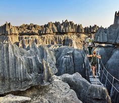 Unique limestone landscape at the Tsingy de Bemaraha Strict Nature Reserve in Madagascar | 7 Awesome Things to Do and See if You Travel to Madagascar