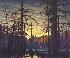 Lawren Harris Beaver Swamp, Algoma, c. 1919 Group of Seven Tom Thomson, Emily Carr, Group Of Seven Artists, Group Of Seven Paintings, Canadian Painters, Canadian Artists, Landscape Art, Landscape Paintings, Landscapes
