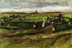 Vincent Van Gogh - Women Mending Nets in the Dunes. August 1882.