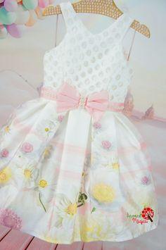 Vestido Infantil de Festa Margaridas Petit Cherie Kids