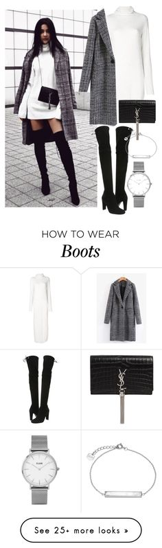"""""""instagram: florencia95"""" by florencia95 on Polyvore featuring Lost & Found, Yves Saint Laurent, Stuart Weitzman, Topshop and CLUSE"""