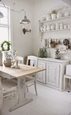 ideas-deco-como-decorar-cocinas-blancas-estilo-romantico