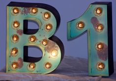 12 Old Vintage Style Marquee Letters Metal by JunkArtGypsyz, $99.90