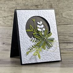 Crafting ideas from Sizzix UK: Greeting Card - Crafting ideas from Sizzix UK: Greeting Card - Handmade Birthday Cards, Greeting Cards Handmade, Tarjetas Stampin Up, Design Floral, Embossed Cards, Stamping Up Cards, Pretty Cards, Card Sketches, Sympathy Cards
