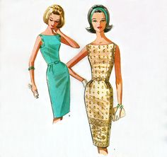 McCalls 6628 | Vintage Sewing Pattern 1960s | Cocktail Dress | Size 14, Bust 34 | Uncut FF Rare by RockItLikeBetty on Etsy