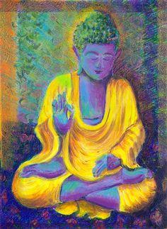 Purple Buddha  Art Print. $12.00, via Etsy.