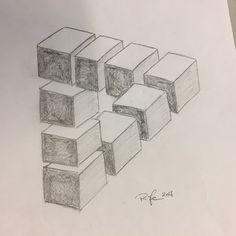 Illusions, 3 D, Cube, Optical Illusions