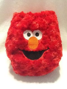 Elmo Curly Minky All In One Cloth Diaper by bugonarugdiapers, $23.00