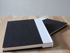Black and White Hardcover Notebook  Sketchbook  by knotbooks