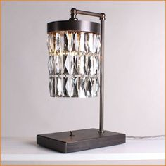 Tigermoth Mirrored Crystal Lamp Bronze