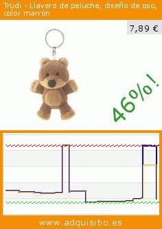 Trudi - Llavero de peluche, diseño de oso, color marrón (Juguete). Baja 46%! Precio actual 7,89 €, el precio anterior fue de 14,56 €. https://www.adquisitio.es/trudi/llavero-peluche-dise%C3%B1o-2