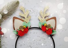 Deer ear Headband Handmade Felt Deer ear headband Deer ears
