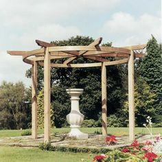 Grange Bramblecombe Pergola Circular Design FSC Timber Green Finish