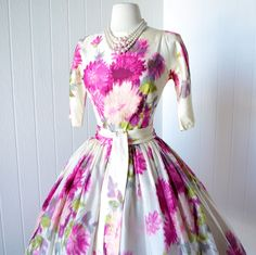 vintage 1950's dress ...gorgeous dior inspired SUZY by traven7
