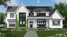 Modern Farmhouse with Kitchen-To-Covered-Porch Pass-Through - 14669RK thumb - 01