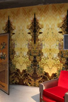 Timorous Beasties Wallcoverings  - Paper Damask Superwide wallpaper panel