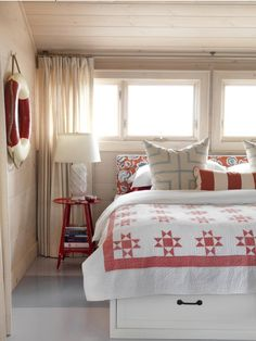 How-to Create a Cottage Chic Style Whitewash pine paneling and Painted floors.