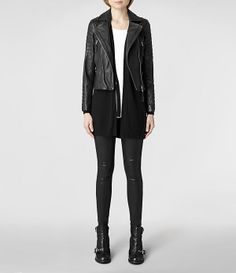Womens Inch Open Back Dress (Black) | ALLSAINTS.com