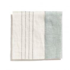 Broad Stripe Top Stitch Curtains - Volga Linen