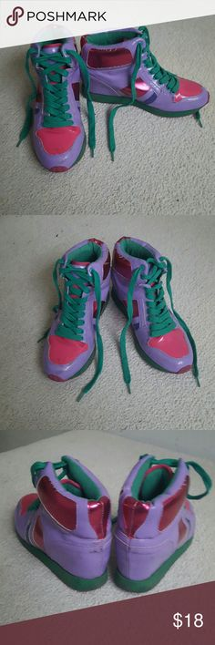 Multi Colored Sneakers Super cool multi Colored sneakers. Have been preloved so have some scuffing as seen in the pictures but definitely still have a lot of life left. Shoes Sneakers
