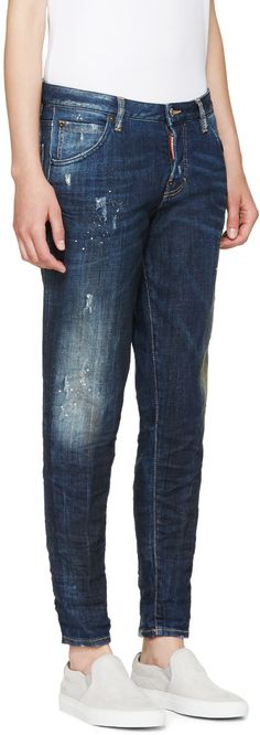 Dsquared2 Blue Midnight Thunder Hockney Jeans
