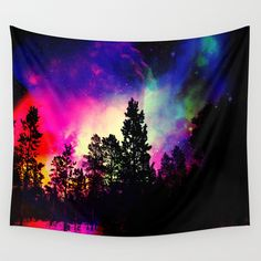 Nebula forest Wall Tapestry