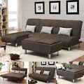 Brown Microfiber 3 PC Sectional Sofa ...