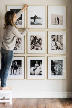 Awesome Wall Gallery Ideas for Perfect Wall Decoration . Awesome Wall Gallery Ideas for perfect wall design , Awesome Wall Gallery Ideas For Perfect Wall Decor . Interior Design Living Room, Living Room Decor, Bedroom Decor, Bedroom Ideas, Wall Art For Bedroom, Interior Livingroom, Frames On Wall, Gold Picture Frames, Gold Frames