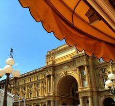 https://flic.kr/p/bXjDFB | Piazza della Repubblica, Florence | View from the table at Caffé Gilli.