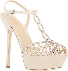 Sergio Rossi Vague T-Strap Sandals - Platforms - Barneys.com