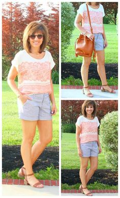 Sharing some casual weekend fashion. Perfect for some fun summer activities!‪#‎summerfashion‬ ‪#‎fashionover40‬ ‪#‎graceandbeautystyle‬