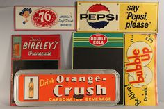 Antique Advertising Signs | 678: Lot of 6 Vintage Tin Soda Advertising Signs - Image 1