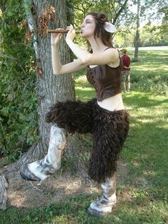 The finale costume for a faun for my student short film, How to Catch a Faun. (You can view the film at ) My friend, Kathryn, was responsible for the construction of the costume itself. I provided ...