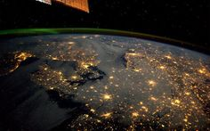 Northern Europe and Aurora Borealis. Captured on 10 Feb 2012 from the International Space Station.