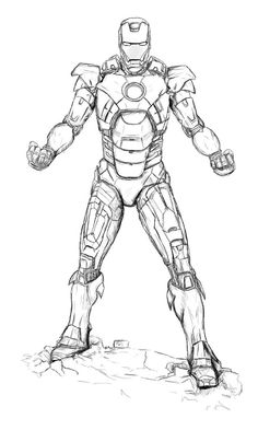 Iron Man Marvel : Iron Man Coloring Pages Free Printable For Adult ...