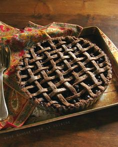 Blueberry Pie with Chocolate-Ginger Crust